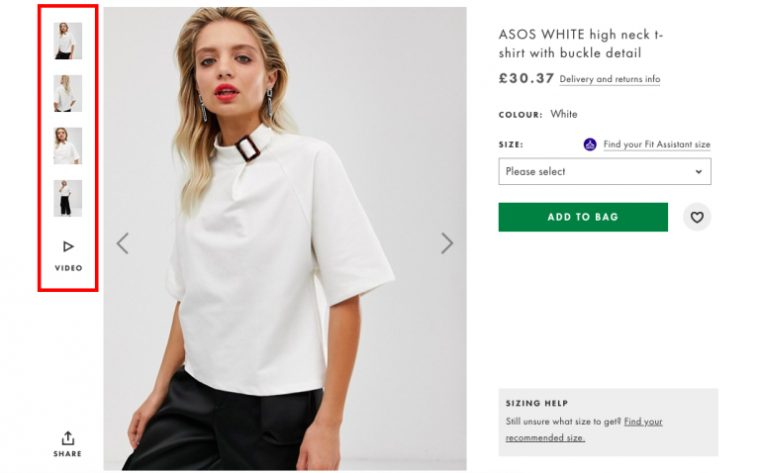 The importance of product photography in e-commerce - ASOS