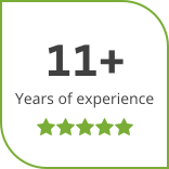 11+ years of experience