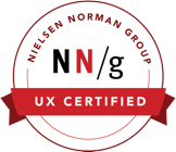 nielsen norman certified badge
