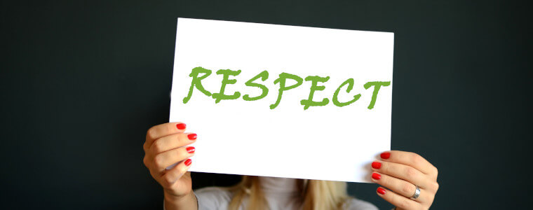 respect sign paper