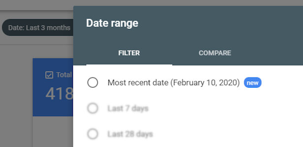 fresh data choose recent date
