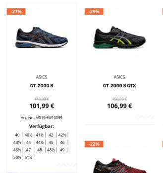 Sportwerk product variations