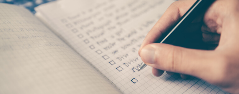 writting list of questions