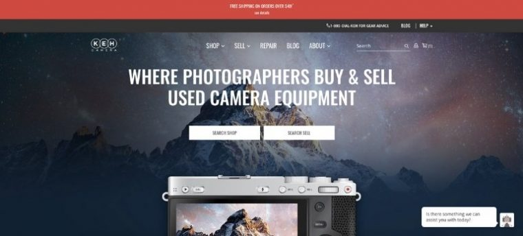KEH Camera USA home page design