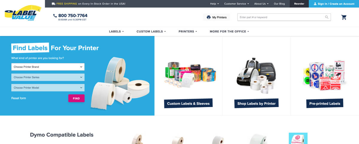 LabelValue - case study - Magento - new design