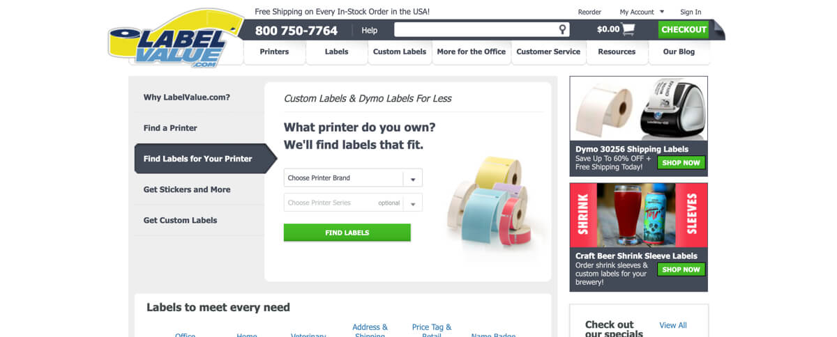 LabelValue- case study - Magento - old design