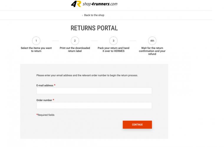Returns portal